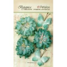 Petaloo - Botanica Collection - Mums & Butterflies - Teal