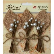 Petaloo - Textured Elements - Burlap Picks - Natural