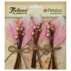 Petaloo - Textured Elements - Burlap Picks - Pink