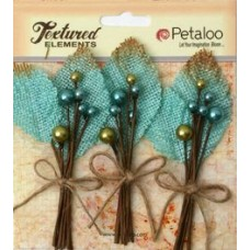 Petaloo - Textured Elements - Burlap Picks - Teal