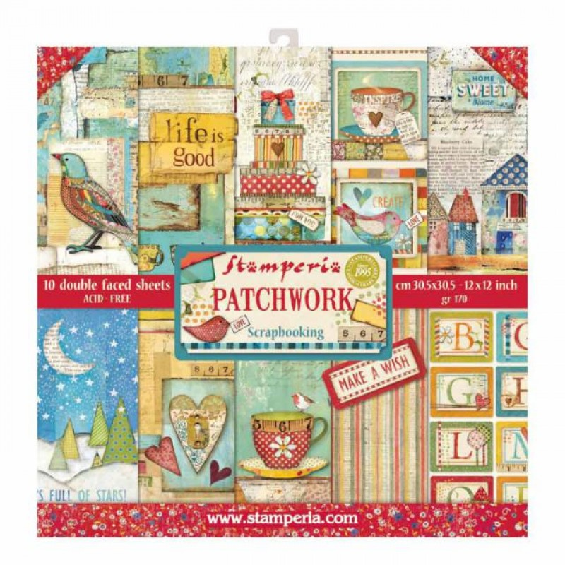 Stamperia Double Sided Paper Pad 12 x 12 inch Patchwork