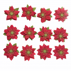 Foamiran Poinsettia Kit - Red