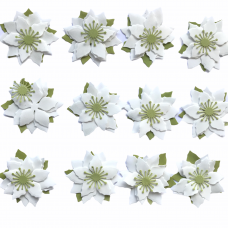 Foamiran Poinsettia Kit - White