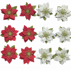 Foamiran Poinsettia Kit - Mixed