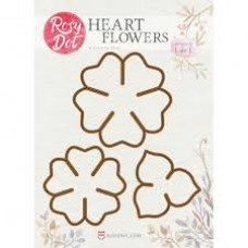 Rosy Dot Dies Heart Flowers