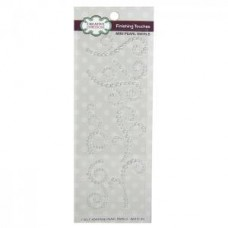Self Adhesive Mini Pearl Swirls White (R)
