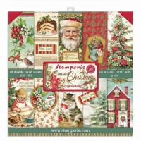 Stamperia Double Sided Paper Pad 12 x 12 inch Classic Christmas