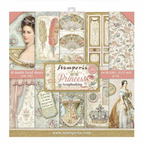 Stamperia Double Sided Paper Pad 12 x 12 inch Princess