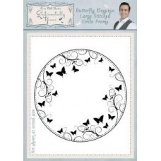 Sentimentally Yours - Phill Martin - Butterfly Elegance Large Stitched Circle Frame