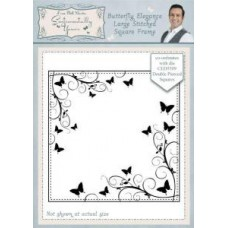 Sentimentally Yours - Phill Martin - Butterfly Elegance Large Stitched Square Frame