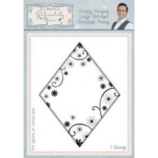 Sentimentally Yours - Phill Martin - Dainty Daisies Large Stitched Diamond Frame