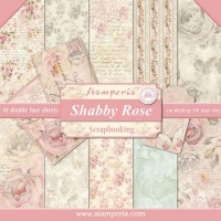 Stamperia Double Sided Paper Pad 12 x 12 inch Shabby Rose