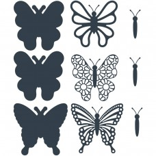The Paper Boutique Cutting Dies Beautiful Butterflies