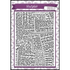 Creative Expressions - A6 Background Stamp - Newsprint