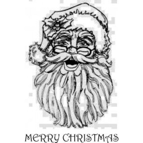 Joyous Santa - Mounted Rubber Stamp Set