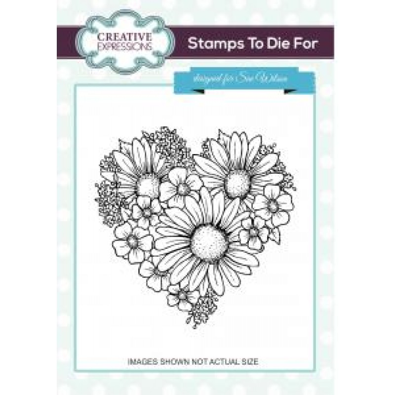 Creative Expressions - Stamps To Die For - Heart Of Blossoms