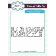 Creative Expressions - Stamps To die For - Sue Wilson - Happy Hearts and Flowers