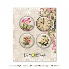 Lemoncraft - House Of Roses - Buttons/Badge