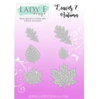 Lady E Design Leaves 7 Autumn Die Set