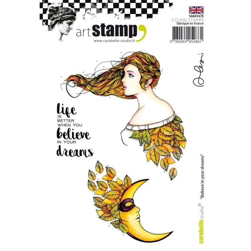 Carabelle Studio - Art Stamp -  Believe In Your Dreams